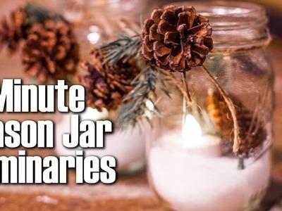 Mason Jar Luminaries Christmas Craft