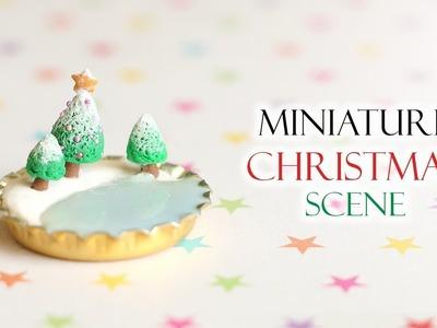 Miniature Christmas Bottlecap Scene│Polymer Clay & UV Resin Tutorial