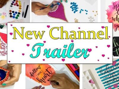 New Channel Trailer | Trims & Tassels | DIYs, Art & Craft,  Room Decor, Painting, Calligraphy