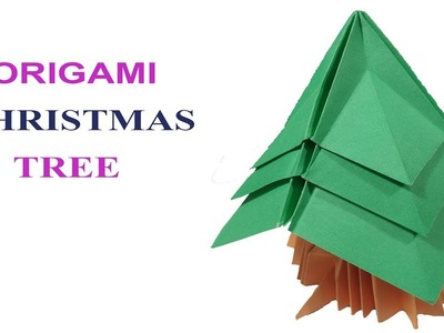 Origami christmas tree | how to make paper christmas tree easily  DIY????