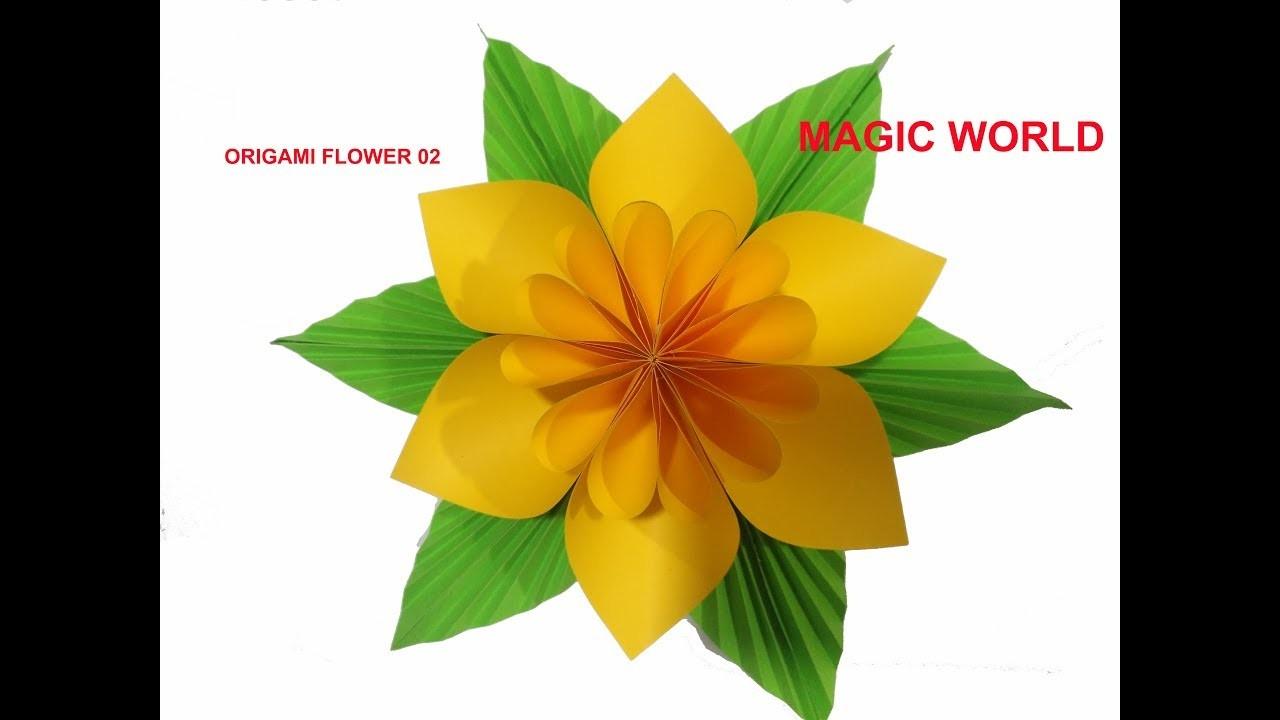 Origami flower easy paper flower easy step paper craft ideas mightylinksfo
