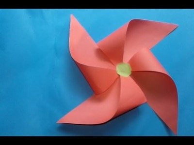 Origami Windmill!!How to make an origami Windmill!!Origami Paper Craft Tutorials!!