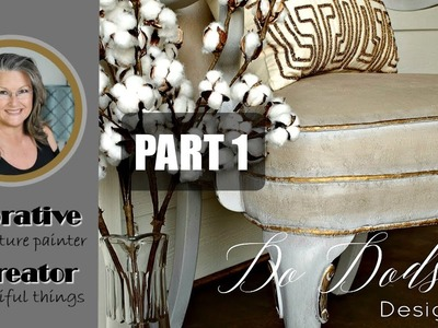 Painting Upholstery Fabric On Furniture, Part 1