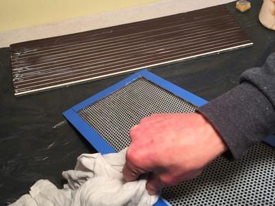 Part 4 : DIY (tutorial) make a planar speaker panel :Glue the magnets