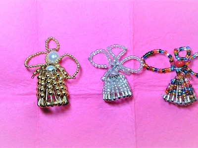 Perfect Dollar Store Christmas Craft:  Safety-Pin Angels
