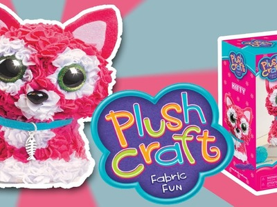 PLUSH CRAFT 3D KITTY - FABRIC FUN - MAKE AND PLAY| Little Kelly & Friends ToysReview for Kids