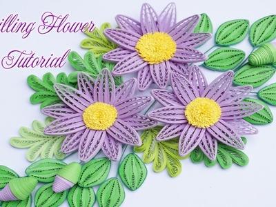 Quilling Daisy Flower Using Comb Tutorial | DIY Paper Daisy Flower Handmade Decoration Tutorial