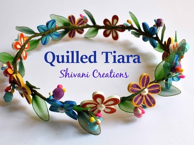 Quilling Tiara. Quilled Hair Accessory. Quilling Jewellery.Fleur quilling