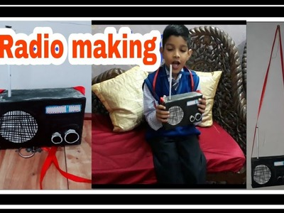 Radio making ,How to make Radio paper ,activity craft , best out of waste