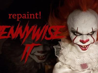Repaint! Pennywise IT Custom OOAK doll Apoxie Sculpt