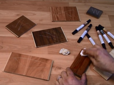 Scratch repair for laminate wood and vinyl - Cal-Flor ScratchCure Repair Pens