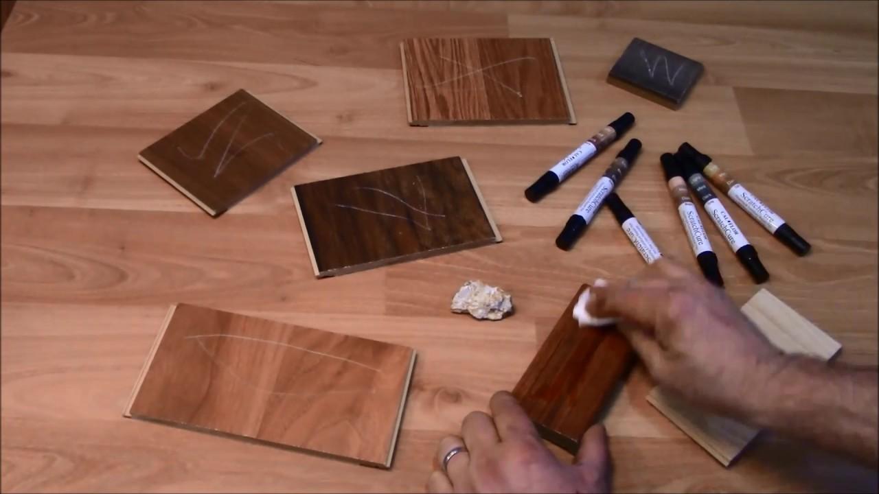 Scratch repair for laminate wood and vinyl - Cal-Flor ScratchCure Repair Pens