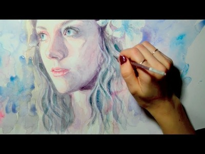 """Speed Painting Watercolor : """"Breathless"""""""