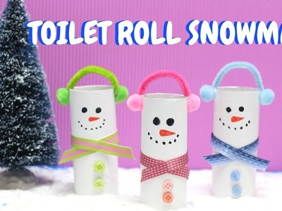 Toilet Roll Snowman | Christmas Craft | Toilet Paper Roll Craft