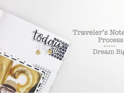 Traveler's Notebook Process | Feed Your Craft DT Pattern Play Kit