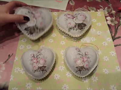 Tutorial - How to decorate a Shabby chic Heart With Decoupage
