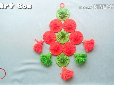 Wall hanging with old bangles   DIY   waste to wealth