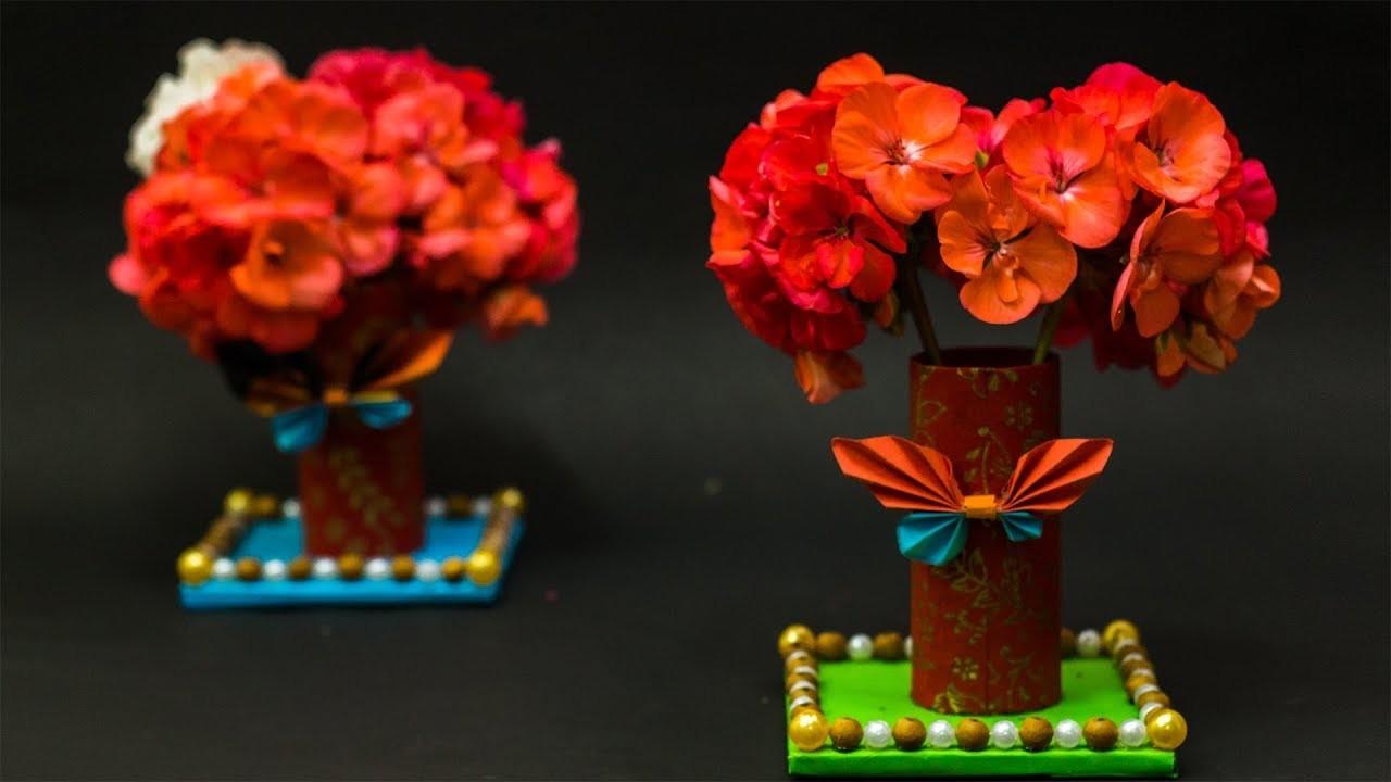 Waste Material Craft Ideas - Diy Flower Vase