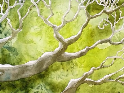 Watercolor: The Secret to Painting Foliage and Tree Branches