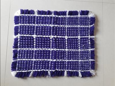 Woolen Rur, Carpet Table Mat. Door mat. Crochet Craft. art