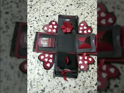 Anniversary romantic.love Explosion box. DIY.Anniversary gift idea. handmade gift.
