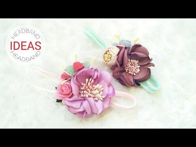 Baby Headband Ideas | Satin Flowers Headband For Girl | DIY by Elysia Handmade 1512471909479