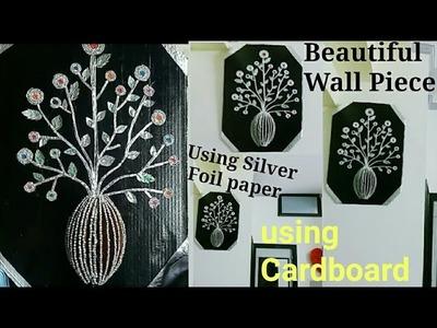 Beautiful Wall Decor Piece Using Foil Paper.Cardboard
