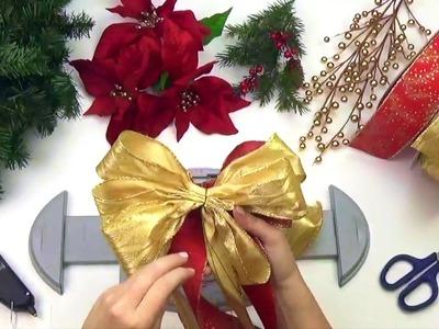 Bow Genius -  How to Make a Christmas Wreath - DIY Wreath Tutorial