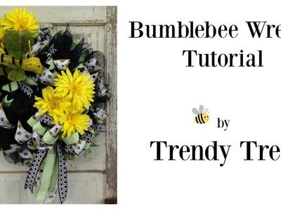 Bumblebee Wreath Tutorial 2016 by Trendy Tree