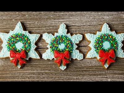 CHRISTMAS COOKIES! Snowflake Cookie Wreaths