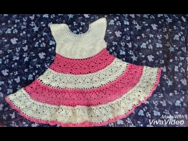 Crochet baby frock umbrella