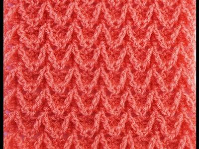 Crochet stitch zig zag