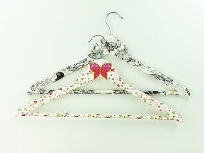 Decoupage wooden clothes hanger - Fast & Easy Tutorial - DIY