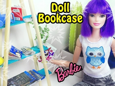 DIY Barbie Doll Bookcase - How to Make Doll Furnitures