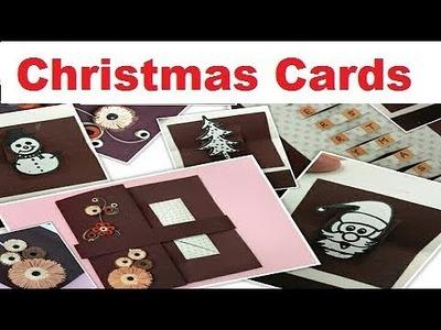 DIY Christmas Cards Handmade,Easy Pop Up  Christmas Card Ideas