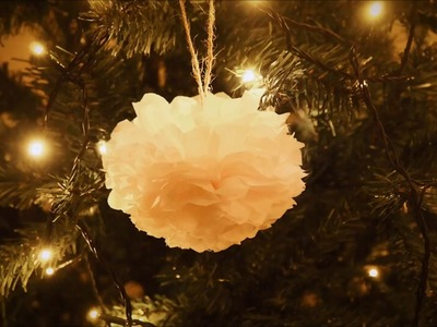 DIY Christmas crafts - Christmas ornaments from tissue paper
