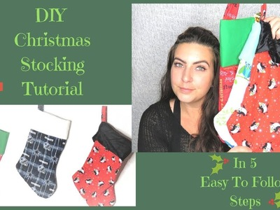 DIY Christmas Stocking Tutorial In 5 Easy Steps | DIY Christmas Gifts