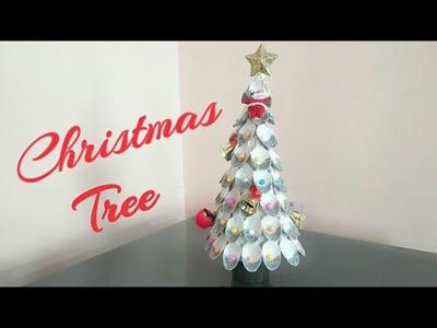 DIY Christmas Tree.How to make Christmas Tree using Plastic Spoon. Christmas Crafts for kids