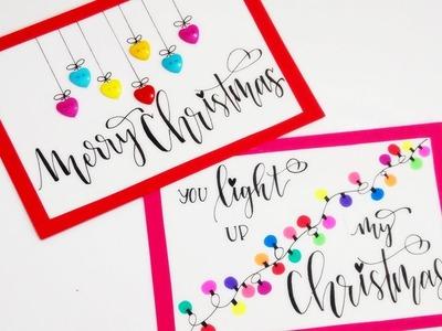 DIY : Cute & Easy CHRISTMAS CARDS | Christmas Decorations | Christmas DIY for Kids