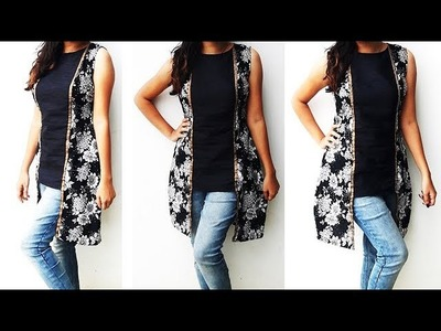 DIY Designer High Low Tunic Top Cutting And Stitching Tutorial