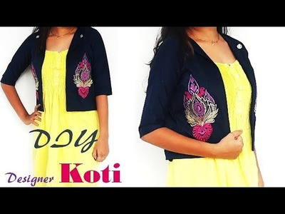 DIY Designer Koti\Short Jacket Cutting And Stitching Full Tutorial