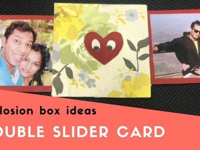 Diy Double slider card!Explosion box ideas!Slider card tutorial!Handmade card