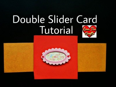 DIY Double Slider Card | How to Make Double Slider Card (Requested Video)