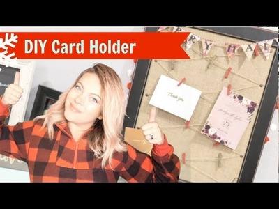 DIY Easy Christmas Card Holder - with the Cricut!