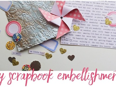DIY Embellishments | Creating A First Year Baby Book | EP 03 | Project Life Scrapbooking | Baby