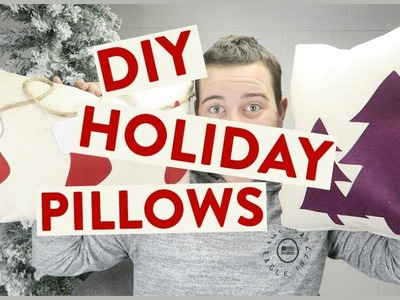 DIY Felt Holiday Pillows | Cricut Maker DIY Idea