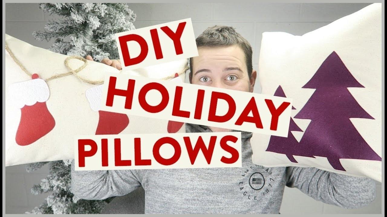 DIY Felt Holiday Pillows | Cricut Maker DIY Idea