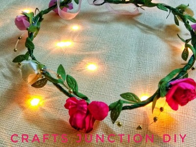 DIY Floral Crown||Bridal Shower Ideas||Easy to make