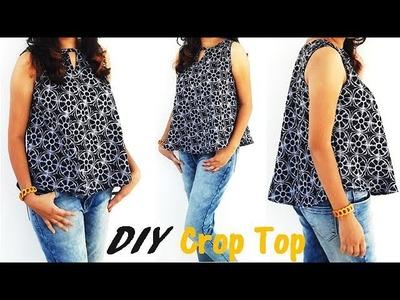 DIY FreeStyle Crop Top\Circular Top Quick And Easy Full Tutorial