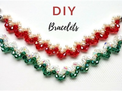 DIY  gifts. Beading ideas for DIY Jewelry .Beaded Bracelets. Valentine's Day gift. Mother;s Day gift